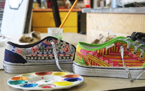 Art class designs Vans for competition