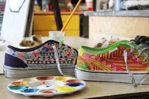 Art class designs Vans for competition