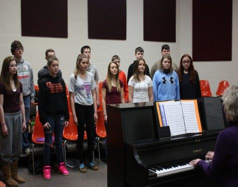 Seventh and Eighth grade choir excels at festival and prepares for upcoming solo and ensemble