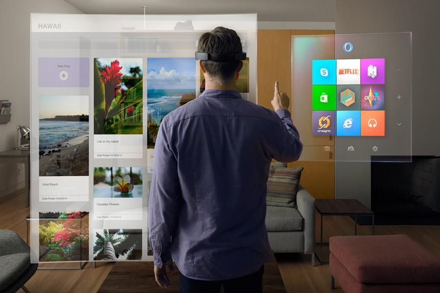 Virtual reality becomes material, metaphorically
