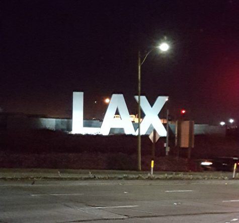 As we made our journey to the airport to fly back to Michigan, we passed the famous LAX sign. One last sight to see before heading home.
