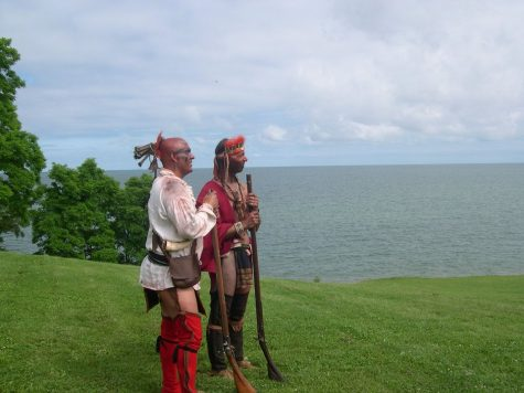 Perspective. While overlooking the view on Lake Ontario in New York, Wes Perry and a friend volunteered at Fort Niagara also in New York, to educate visitors about the history of Natives.