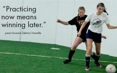 Indoor girl's soccer team competes to train for outdoor