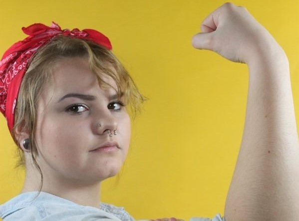 With spaces unfilled in the workforce during WWII, female power ran America, a common known figure in the movement of this era was Rosie the Riveter. During the 1940's, the women built machines and ammunition for the war while men were fighting. Today she is seen as a figure of empowerment for men and women alike.