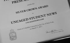 Bursting with joy, the Uncaged staff came home from CSPA with a Silver Crown. All three of the other schools from Michigan did as well. The Silver Crown is awarded for getting at least 600 points from the national judges.