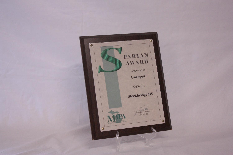 Spartan+Award+to+Uncaged+2013-2014+Stockbridge+HS