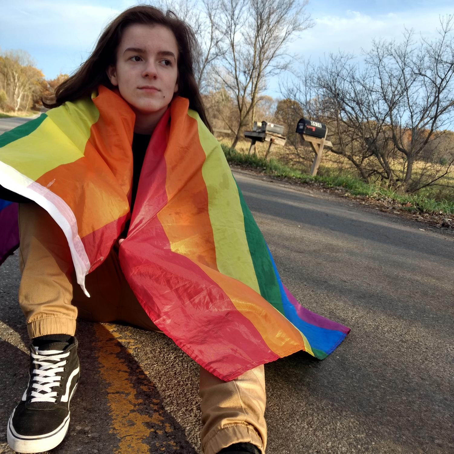 """The GSA makes me feel more supported and valid because the other members make me realize i'm not alone,"" sophomore Melanie Eskew said. She came out in 2017 and described not exactly feeling supported or valid, but does now with the support of this group."