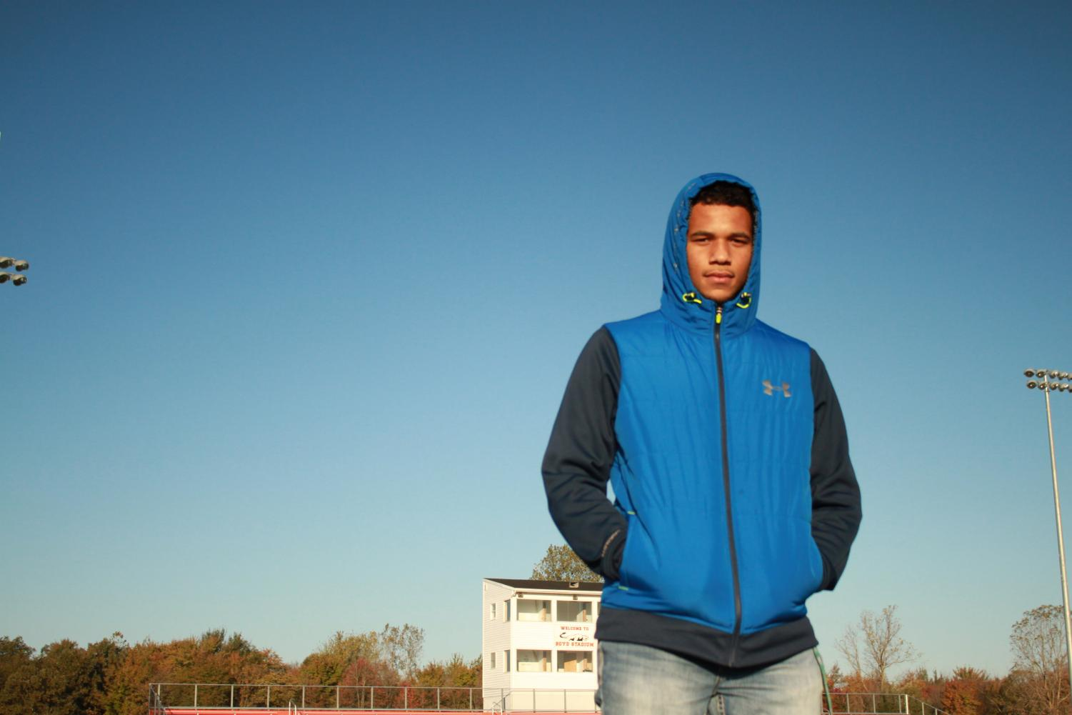 """Junior Tylin Ayers, three sport athlete, knows anxiety. """"I struggle getting the motivation to do homework after sports, due to anxiety."""""""