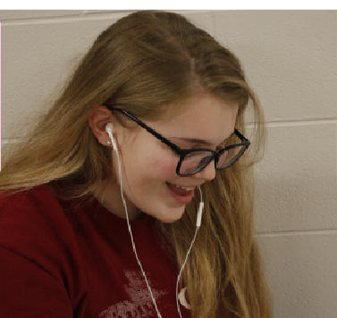 Freshman Grace Drier enjoys tracks Grande's new album between classes. Her favorite song is 'break up with your girlfriend, i'm bored.
