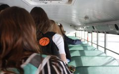 The girls Varsity Basketball team filtered on to the bus to travel 36 minutes away to compete with Leslie. The score of the girls game would end up being 41-23 and the boys lost 57-67.