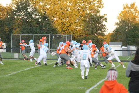 The varsity football team takes on Comstock for their first game of the season on September 18. They remained persistent when the season was very unpredictable, proving that in the first game with a 47 to 21 win.