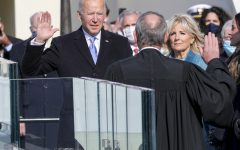 President-elect Joseph R. Biden Jr. takes the presidential oath of office at the U.S. Capitol, Washington, D.C., Jan. 20, 2021. Once the oath was completed, Biden became the 46th President of the United States of America.