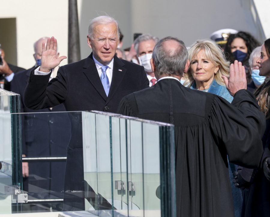 President-elect+Joseph+R.+Biden+Jr.+takes+the+presidential+oath+of+office+at+the+U.S.+Capitol%2C+Washington%2C+D.C.%2C+Jan.+20%2C+2021.+Once+the+oath+was+completed%2C+Biden+became+the+46th+President+of+the+United+States+of+America.