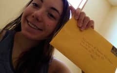 JUNIOR Rylee Tolson sendS blank birthday cards to volunteers of America for residents in nursing homes to use for their loved ones as a national honor society project.